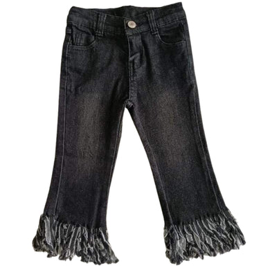 Premium Denim - Black - Frayed