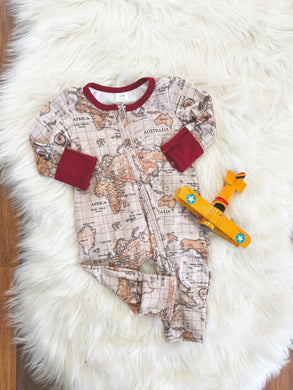 Little Explorer Collection - Boys Map Layette