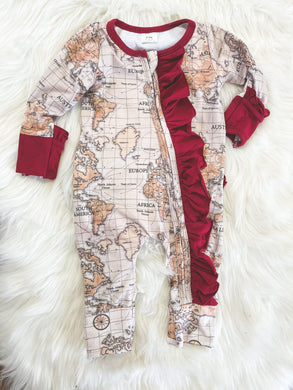 Little Explorer Collection - Girl's Map Layette