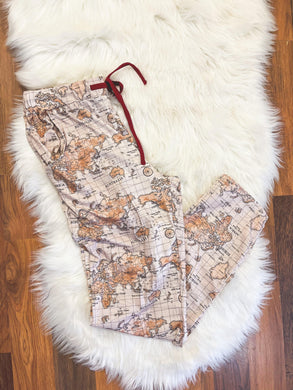 Little Explorer Collection - Map Pajama Pants for Dad