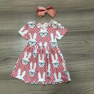 Pink Bunny Flutter Day Dress - Georgia's Boutique