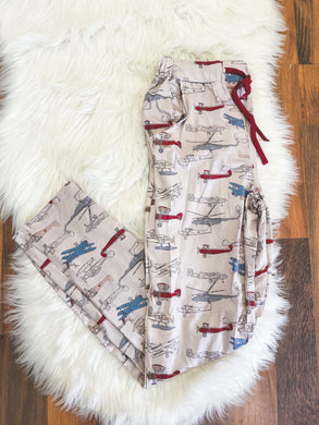 Little Explorer Collection - Vintage Planes Pajama Pants for Mom