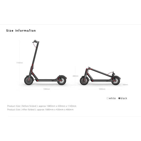 White Xiaomi M365 Electric Scooter dubitz australia brisbane