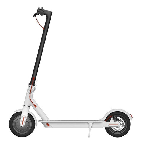 White Xiaomi M365 Electric Scooter + 2 Spare Tyres