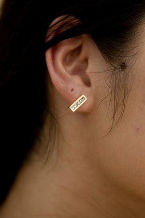 Cascade Earstuds in Gold