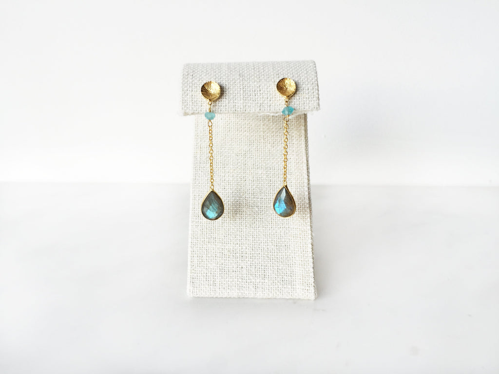 Cleo Earrings - Labradorite