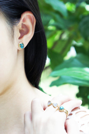 Gaia Earrings - Copper Turquoise