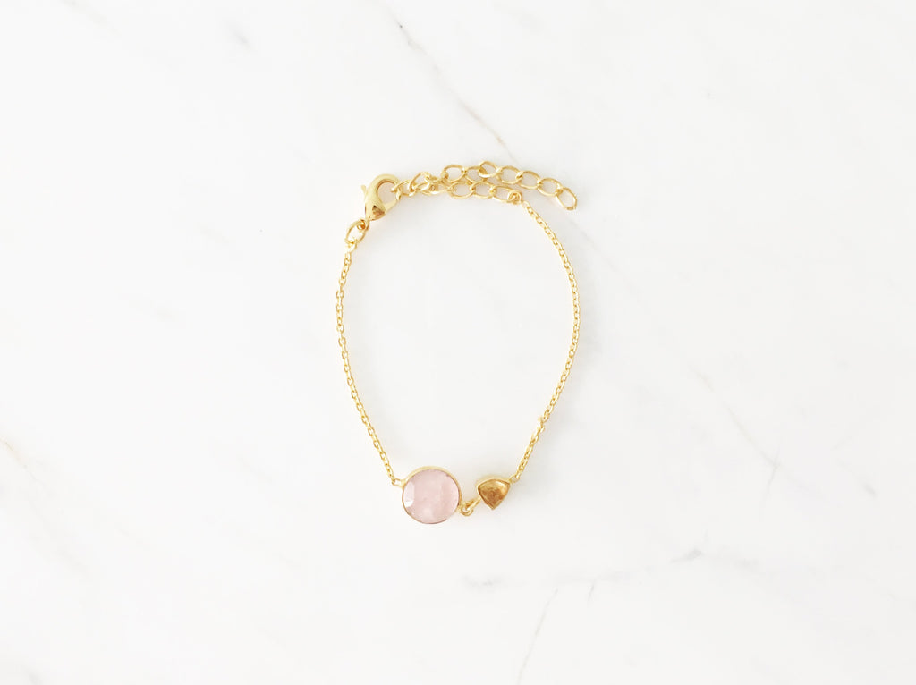 Irisi Bracelet - Rose Quartz