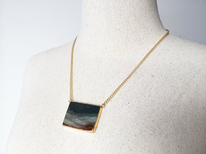 Saffron Picture Jasper Necklace