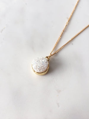 Oriel Druzy Necklace (Ivory)