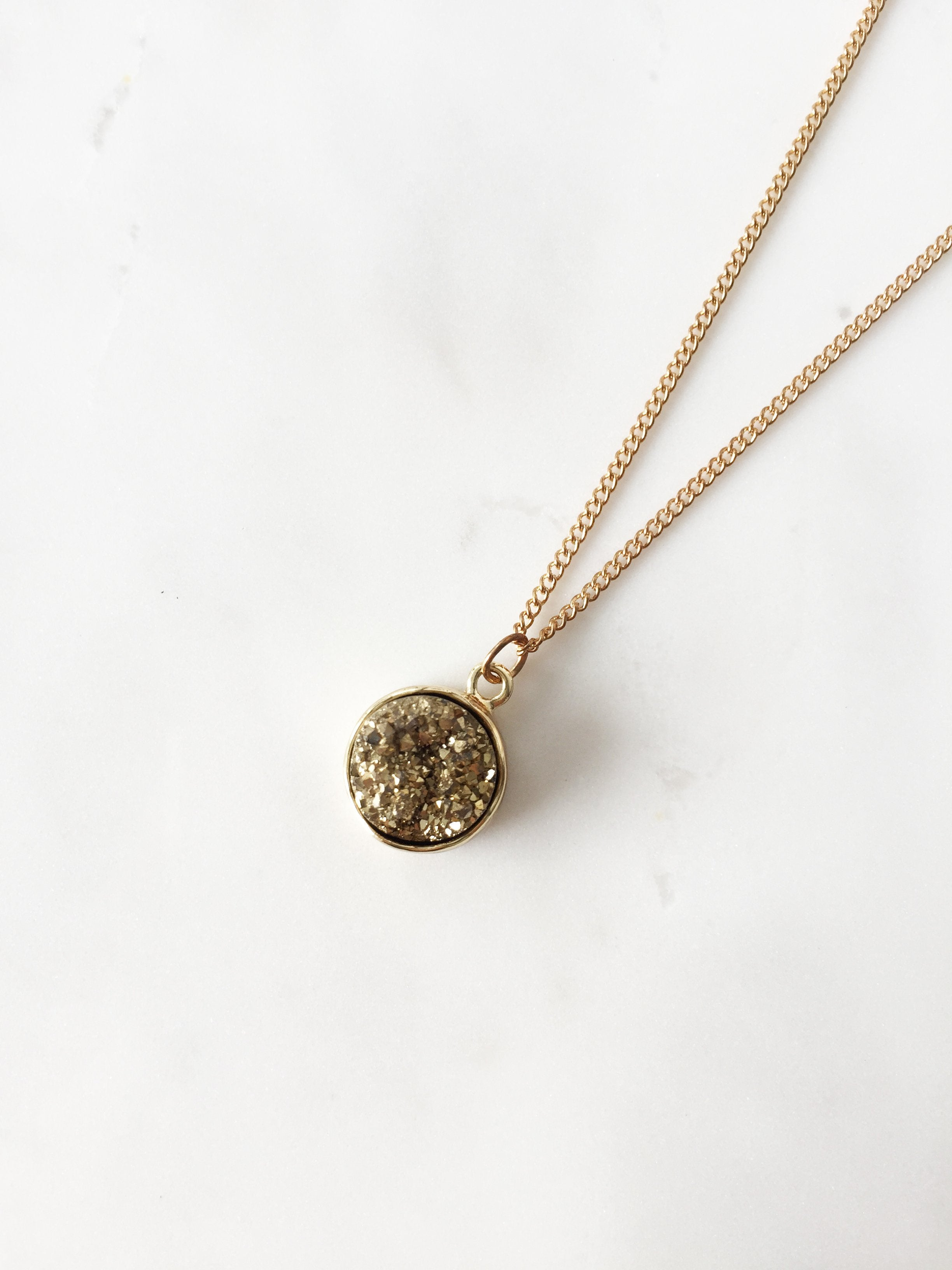 Oriel Druzy Necklace (Gold)