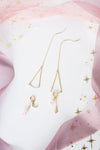 Reverie Earrings (Customisable) - Rose Quartz