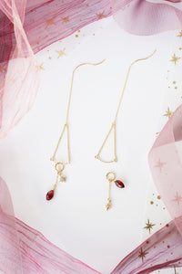 Reverie Earrings (Customisable) - Garnet
