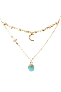 Lady Stardust Necklace - Amazonite