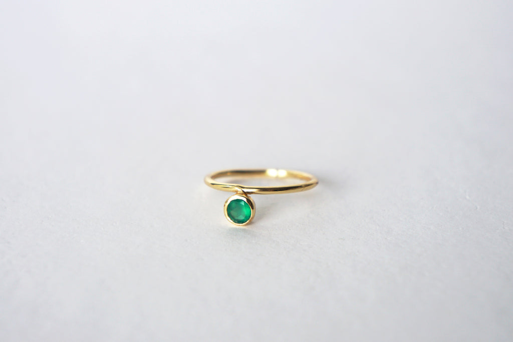 Cerise Ring - Green Onyx