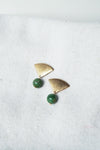 Kai Earrings - Burmese Jade