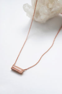 Prism Necklace - Rose Quartz