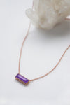 Prism Necklace - Lavender Jade