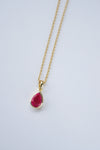 Teardrop Necklace - Ruby