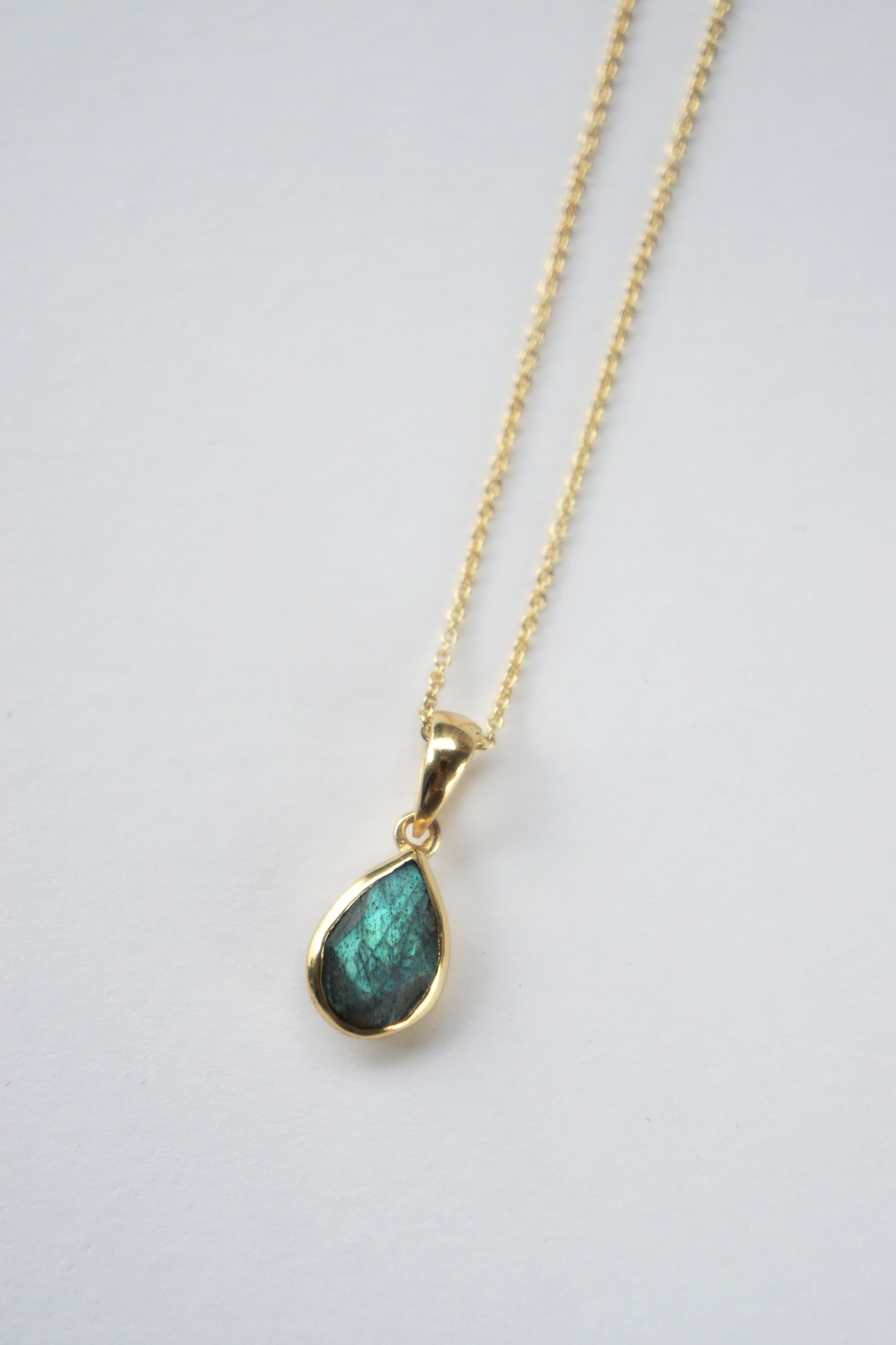 Teardrop Necklace - Labradorite