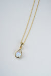 Teardrop Necklace - Rainbow Moonstone