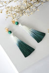 Chinoise Earrings - Malachite