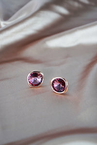 Chaleur Earrings in Rose Gold - Antique Pink