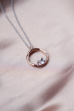 Lagune Necklace in Silver/Rose Gold