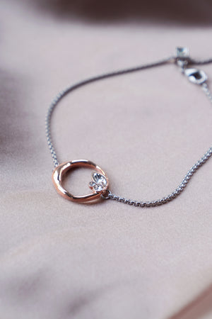 Lagune Bracelet in Silver/Rose Gold