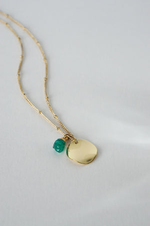 Reflection Necklace - Green Onyx