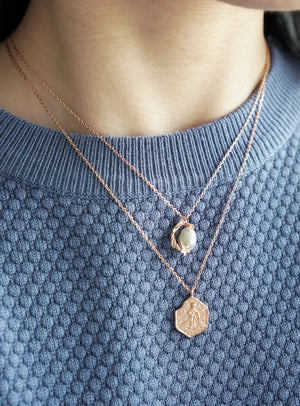 Under The Sea Necklace in Rose Gold