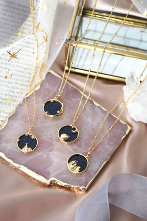 Starry Night Necklace in Gold - Milky Way