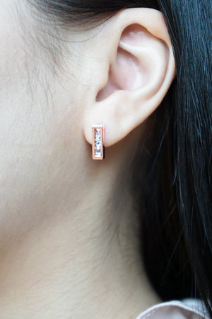 Cascade Earstuds in Rose Gold