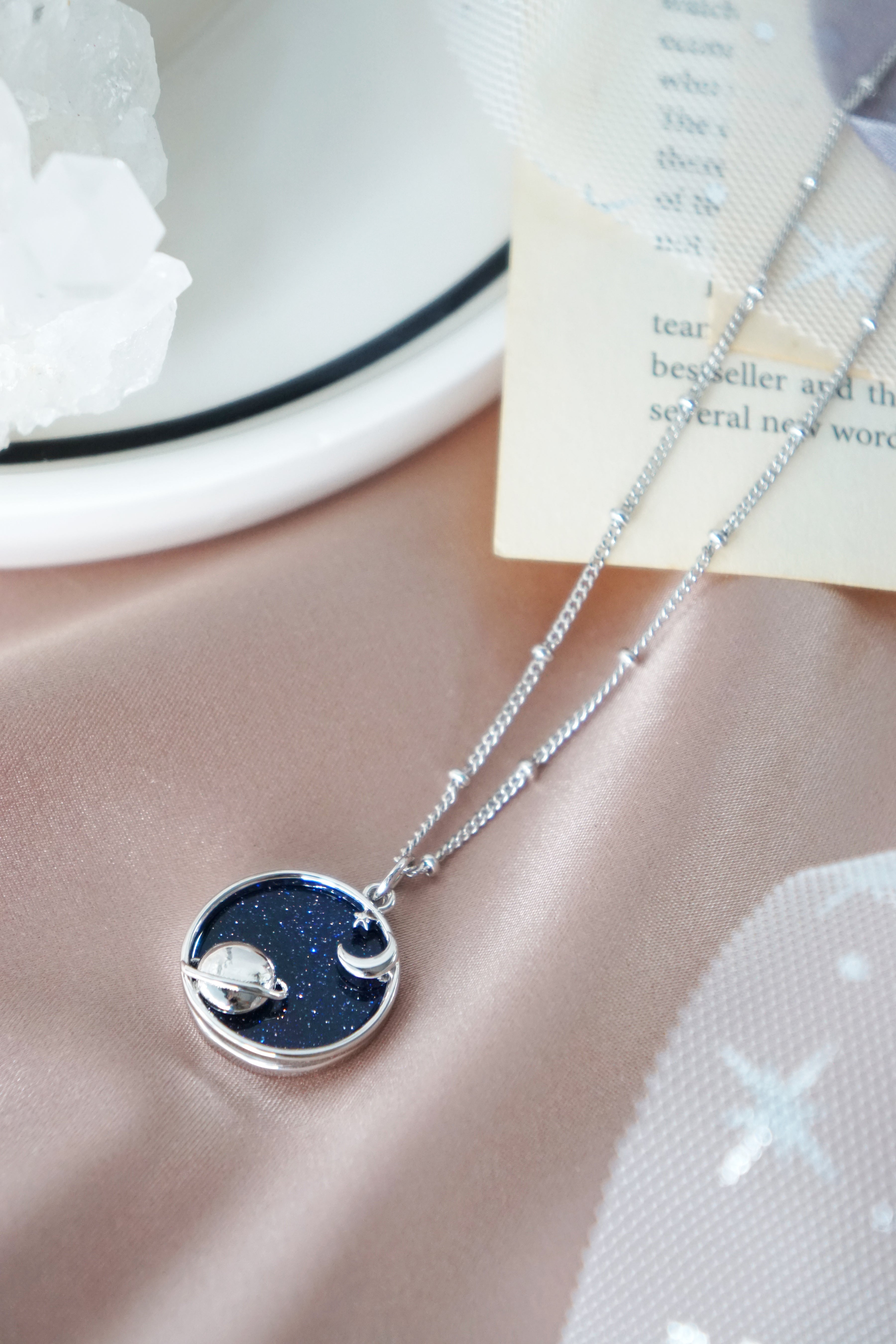 Starry Night Necklace in Silver - Planetarium