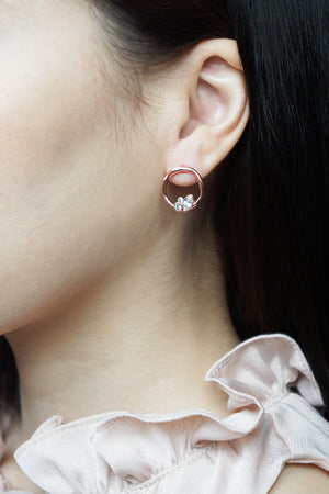 Lagune Earrings in Rose Gold