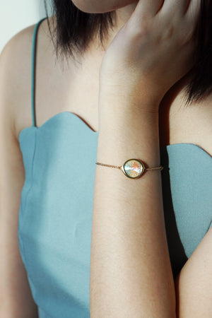 Tallulah Bracelet in Gold - Light Grey Delite