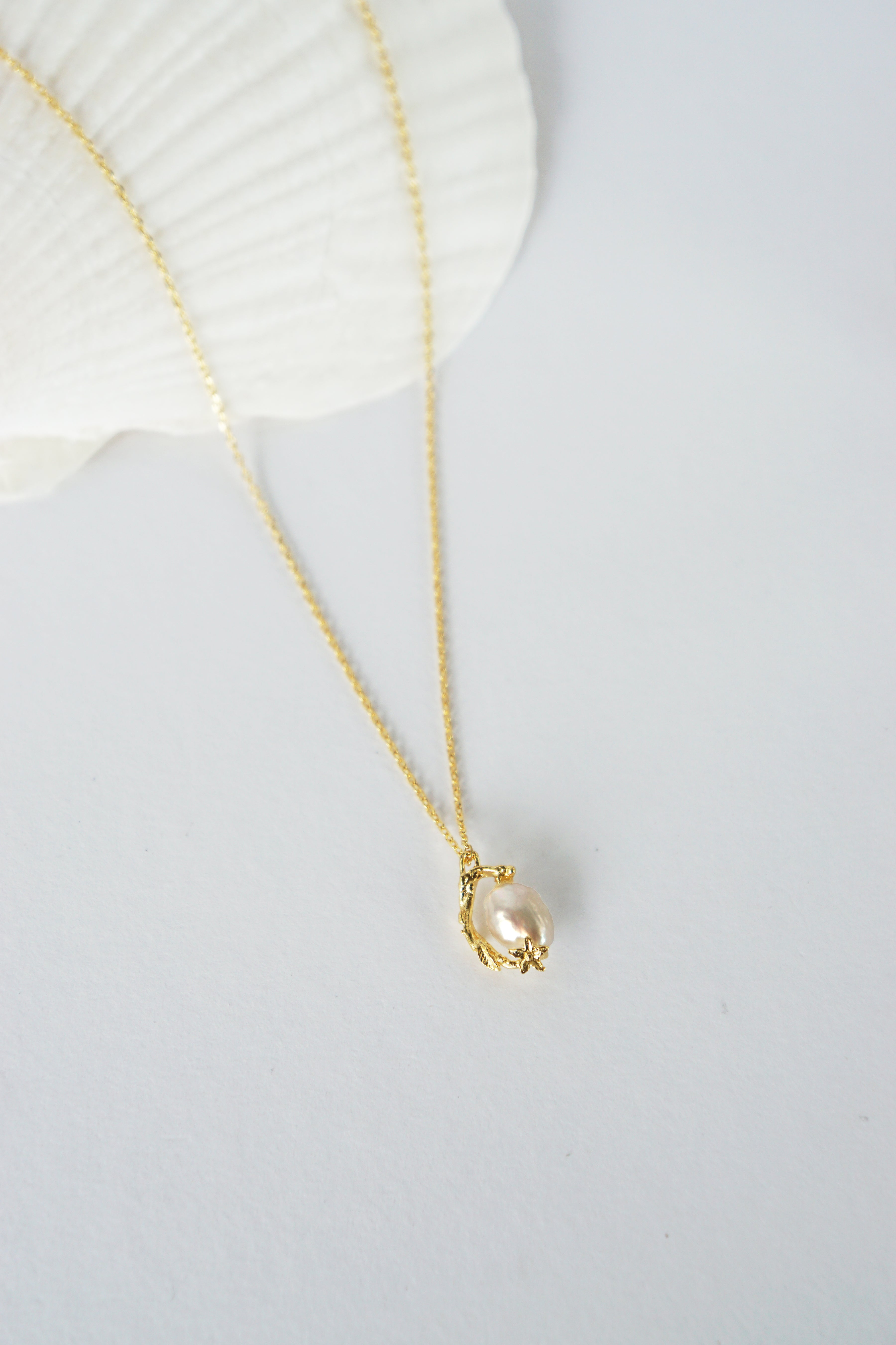 Under The Sea Necklace in Gold