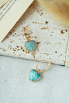 Ce Petit Coeur Hoops - Amazonite (Backorder)