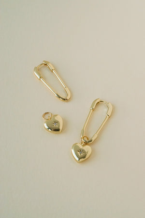 Safety Pin Hoops in Gold