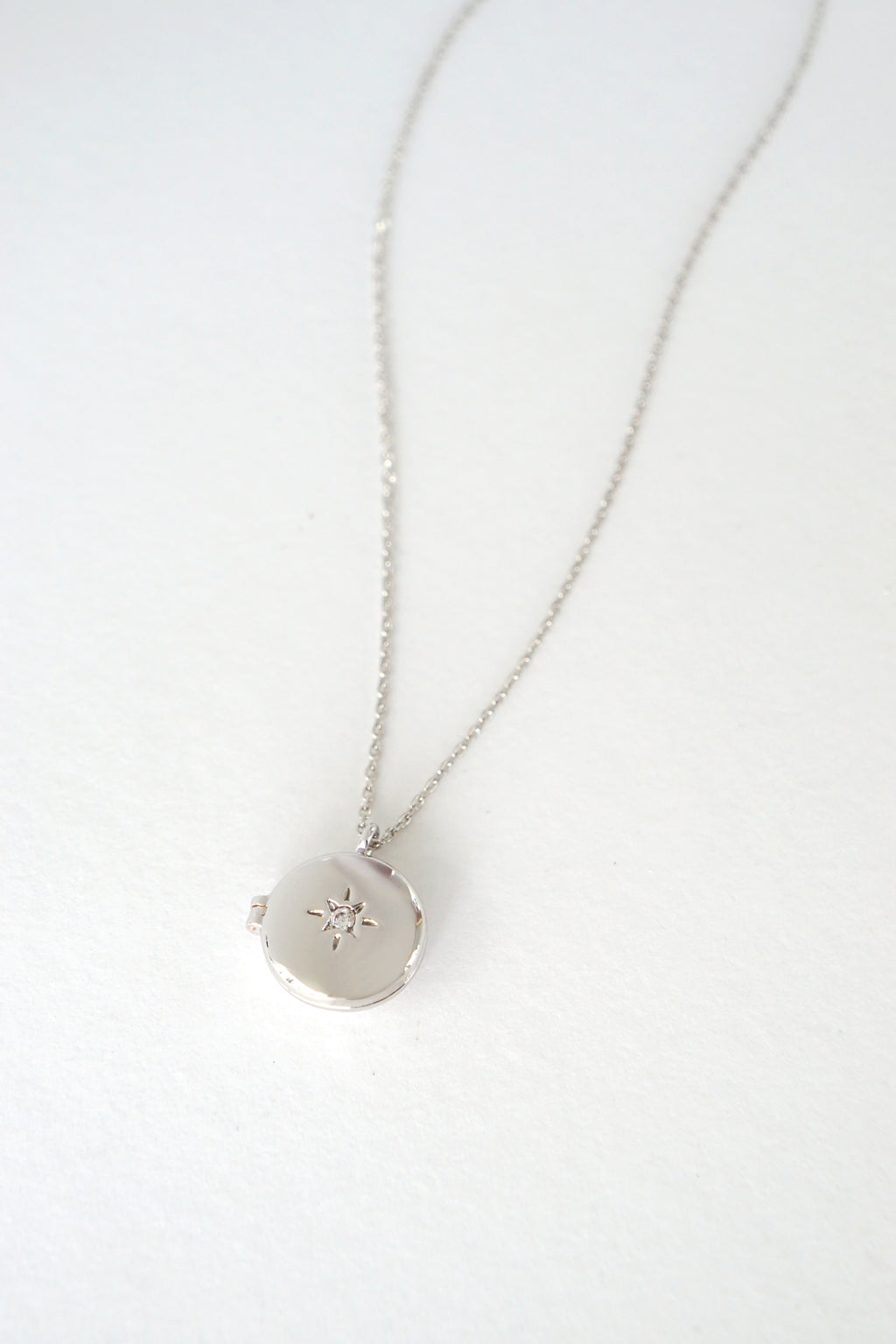 Wish Upon A Star Locket Necklace in Silver
