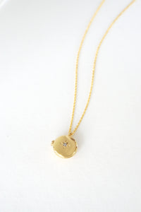 Wish Upon A Star Locket Necklace in Gold