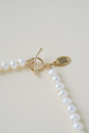 The Morse Code Pearl Necklace (Personalised) - PREORDER