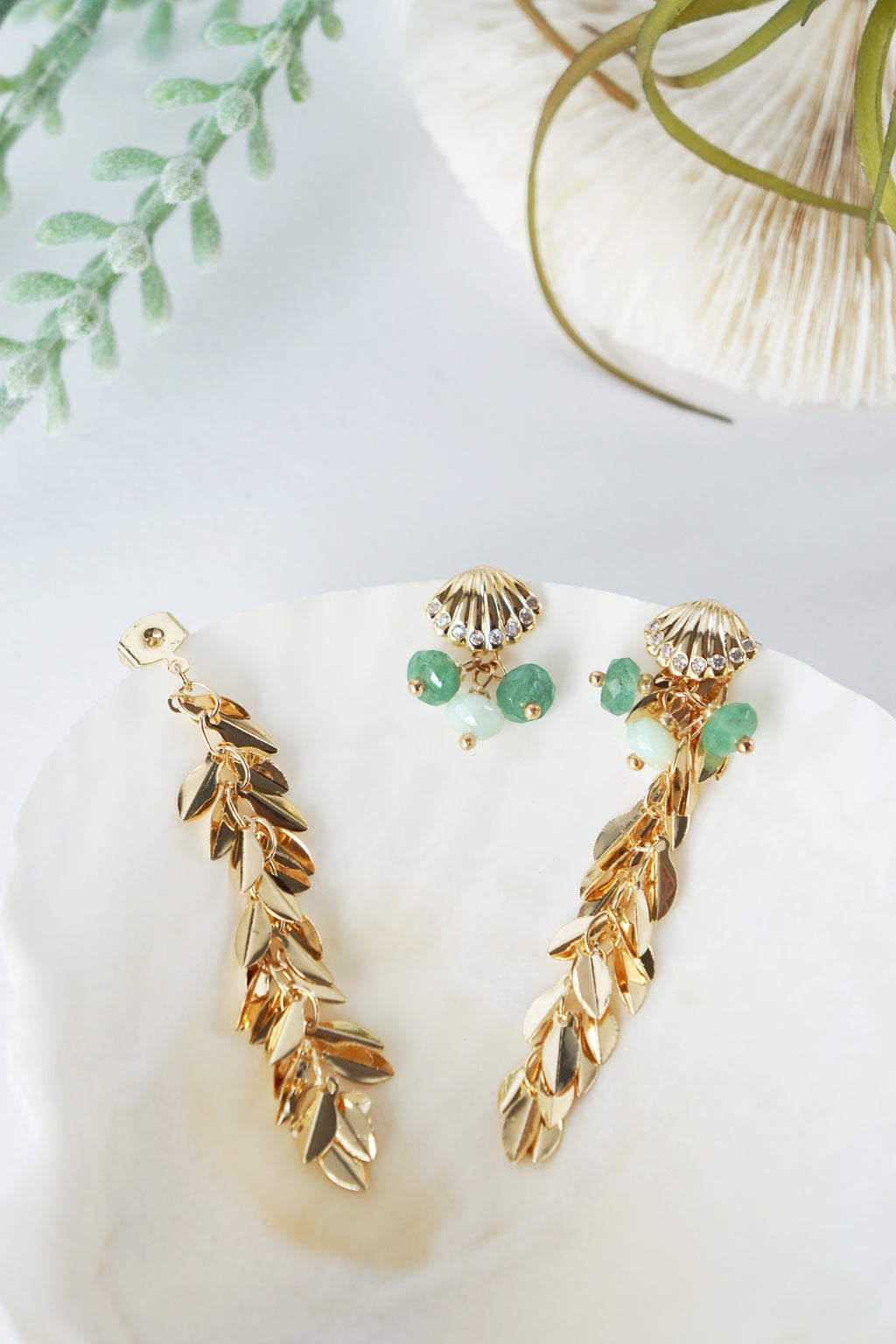 Shellina Earrings (Two-Way)