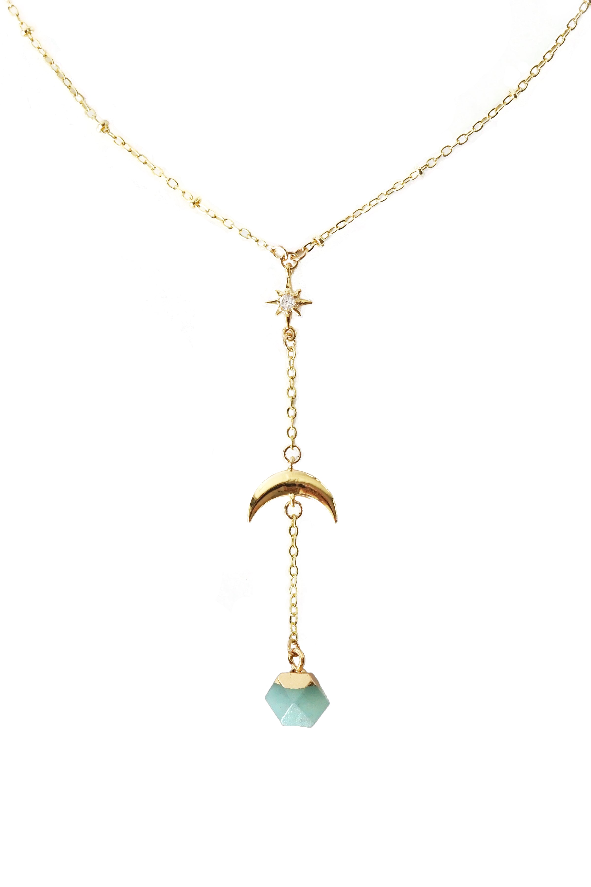 In The Sky With Diamonds Necklace - Amazonite