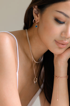 Francoise Necklace in Rose Gold - Montana