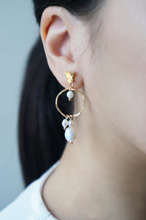 Chrysalis Pearl Earrings