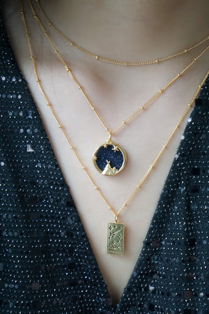 Starry Night Necklace in Gold - Planetarium