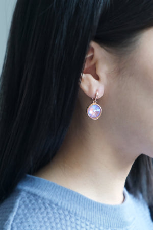Tallulah Earrings in Rose Gold - Lavender Delite