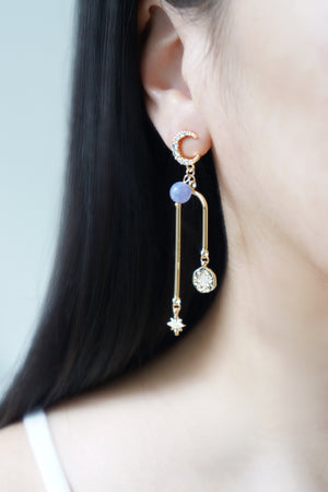 Written In The Stars Earrings - Angelite