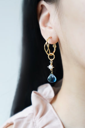 Enchant Earrings (Customisable) - London Blue Quartz